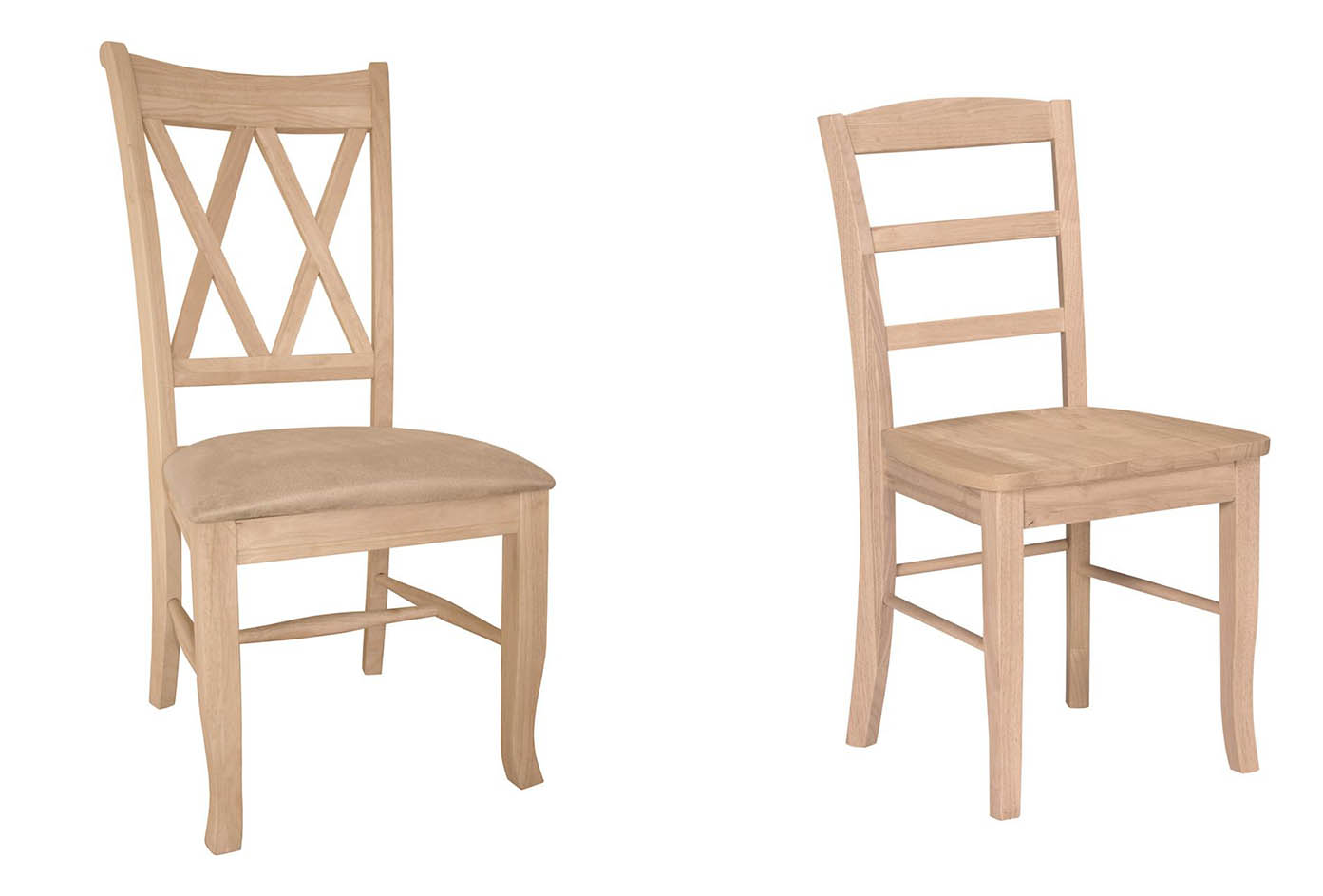 Image of: Cute Unfinished Wood Dining Chairs