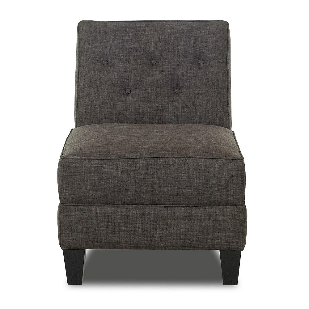 Image of: Dark Armless Accent Chair