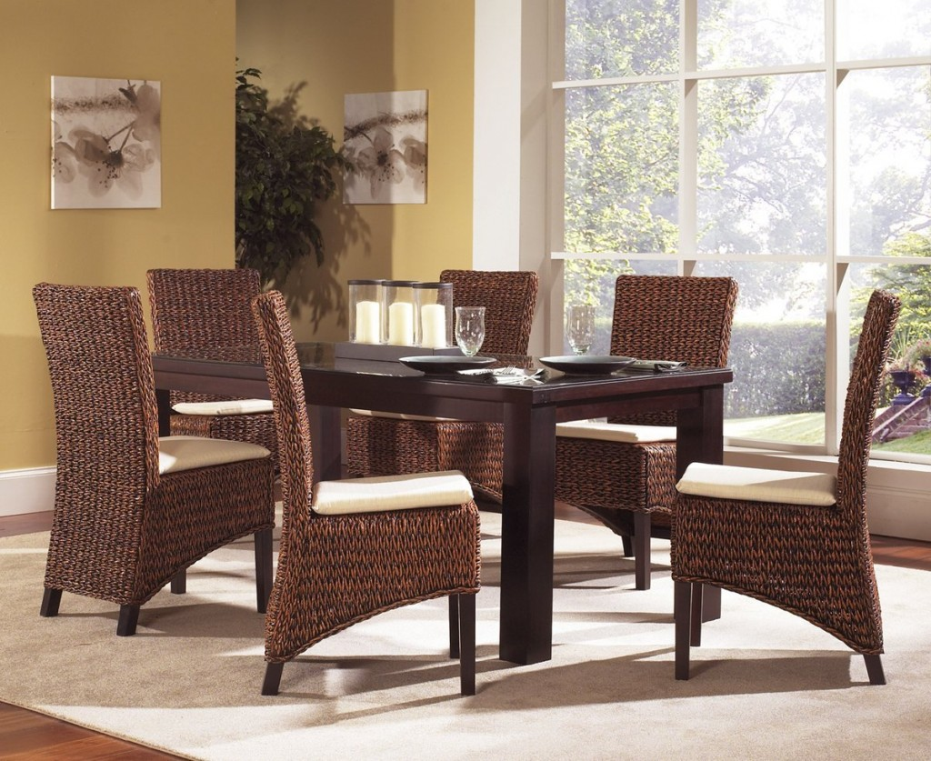 Image of: Decorating Seagrass Dining Chairs