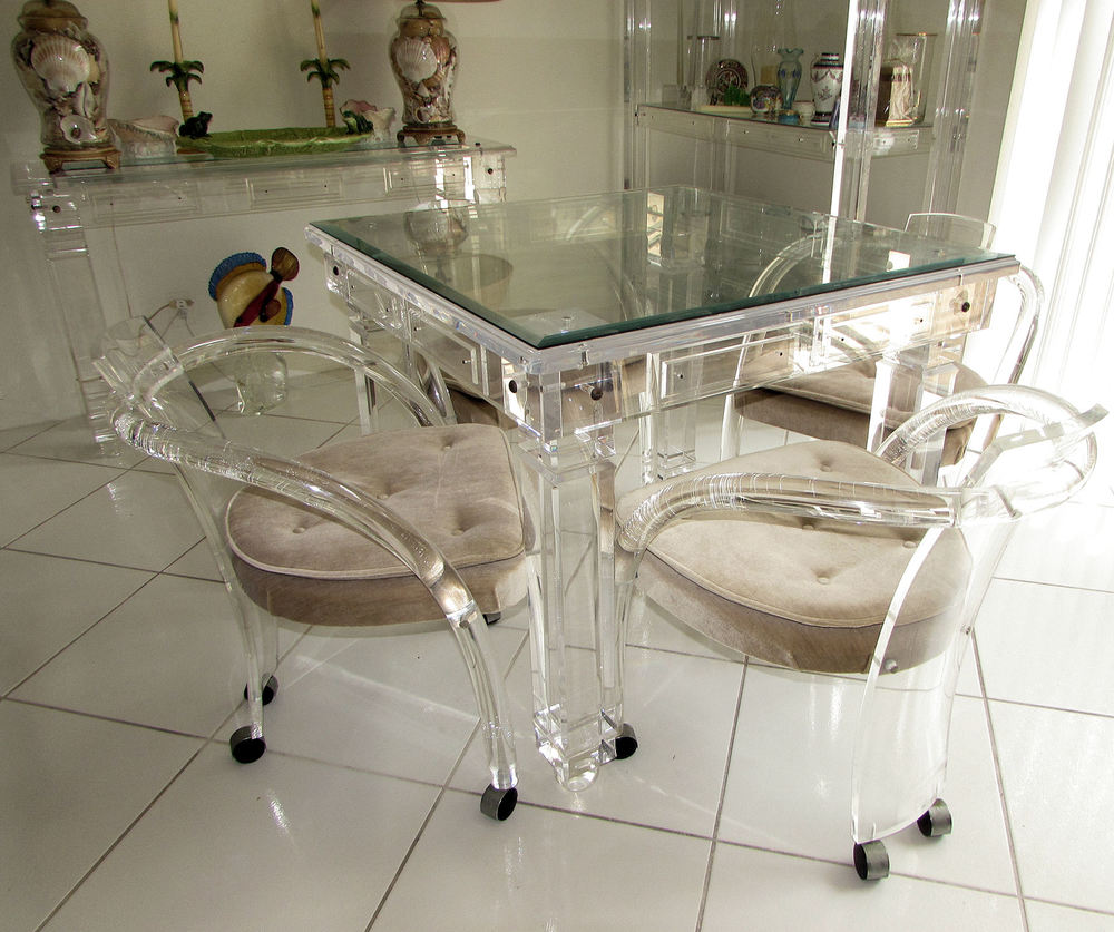 Image of: Decoration Lucite Dining Chairs