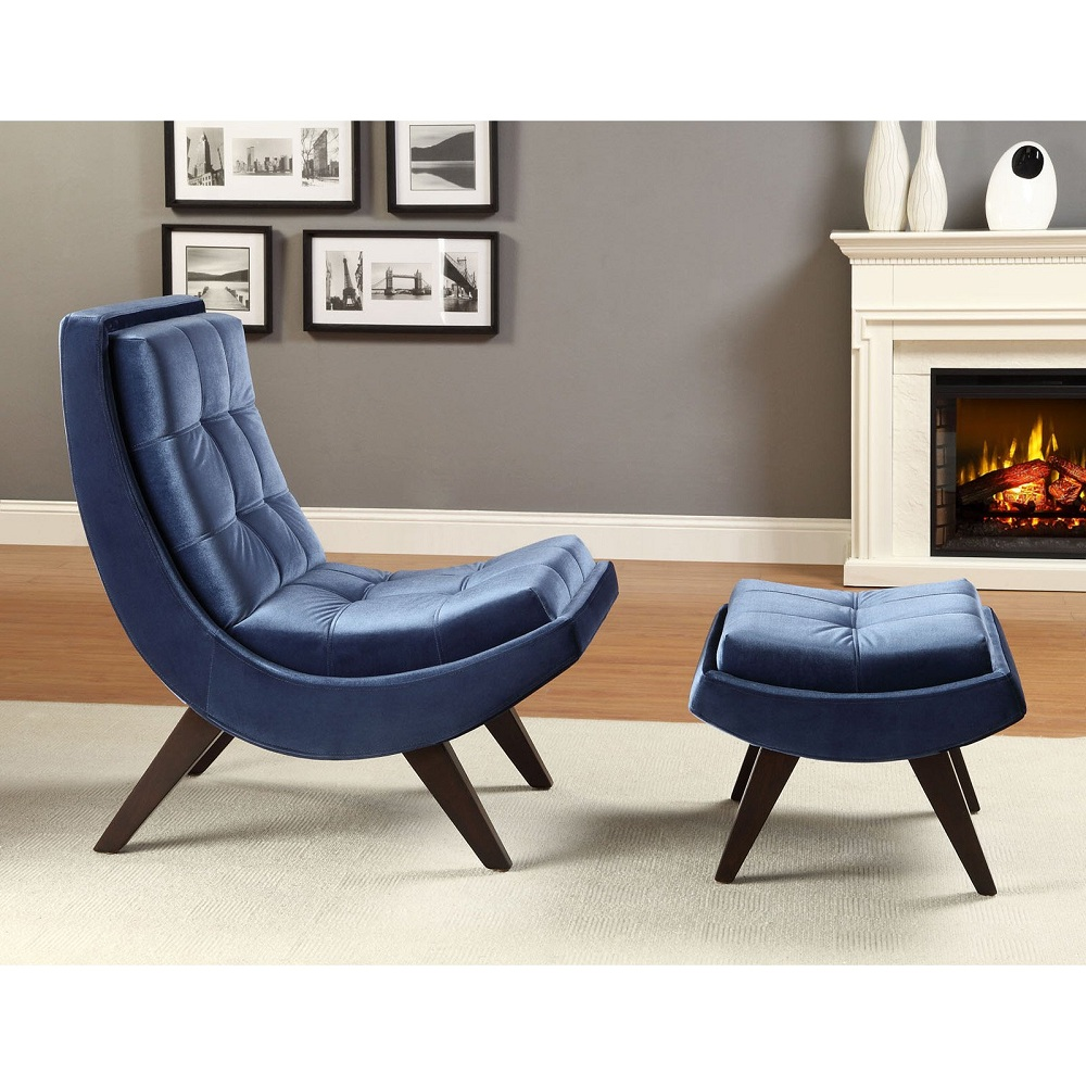 Image of: Design Navy Blue Accent Chair