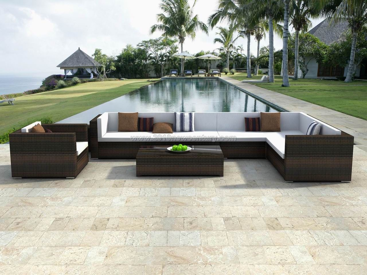 Image of: Design of Outdoor Loveseat