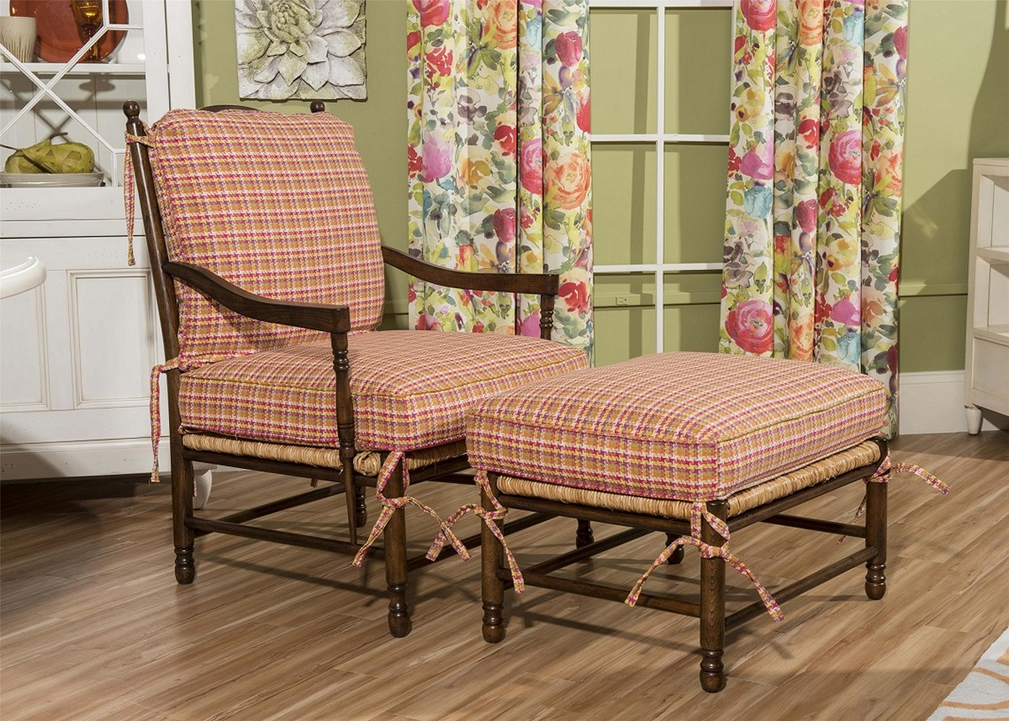 Image of: Dining Chair Cushions with Ties Design