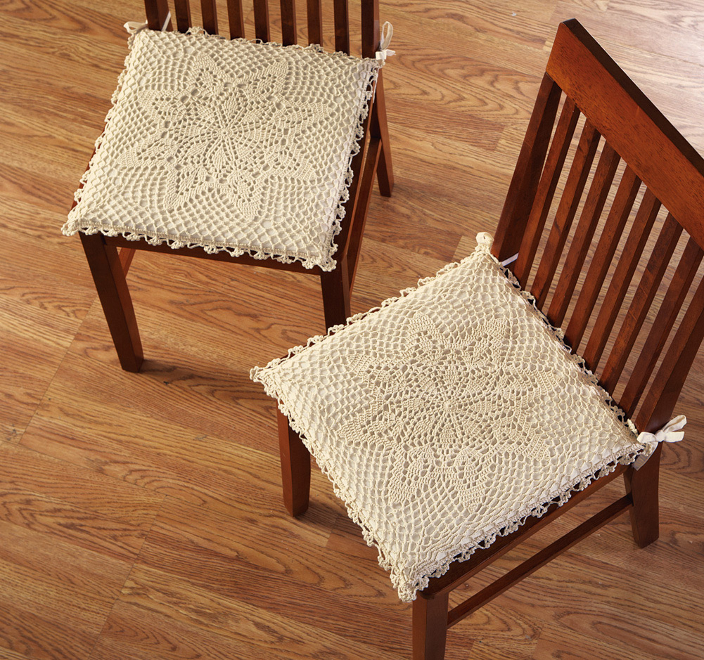 Image of: Excellent Dining Chair Cushions with Ties Ideas