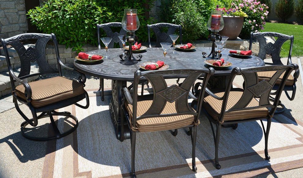 Image of: Dining Patio Swivel Chairs