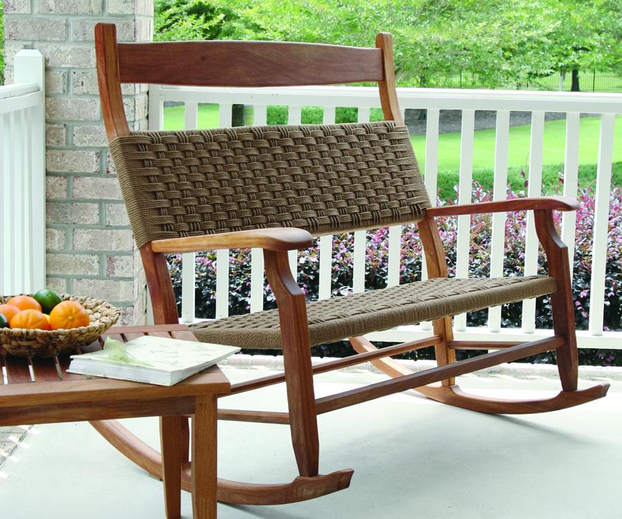 Image of: Double Patio Rocking Chair