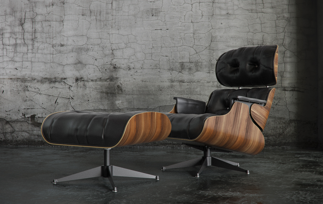 Image of: Eames Lounge Chair and Ottoman Design