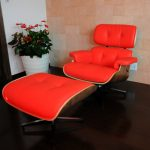Eames Lounge Chair and Ottoman Red