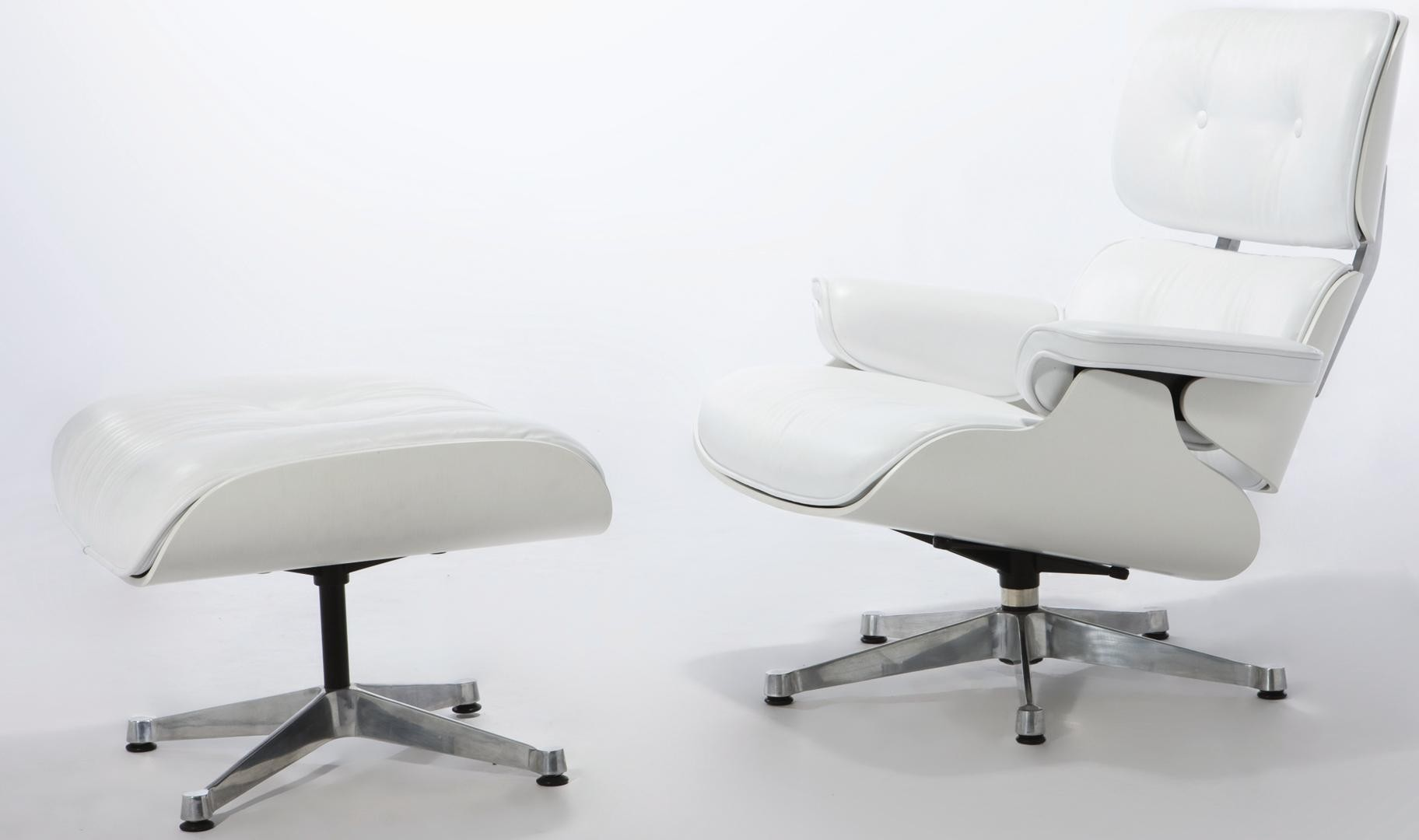 Eames Lounge Chair and Ottoman White