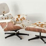 Eames Lounge Chair and Ottoman with Seat