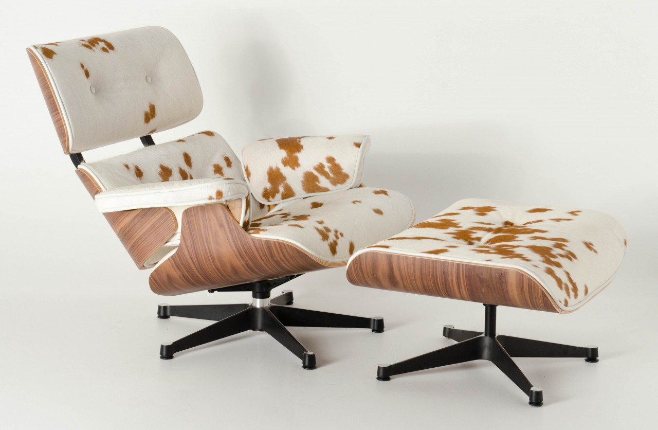 Image of: Eames Lounge Chair and Ottoman with Seat