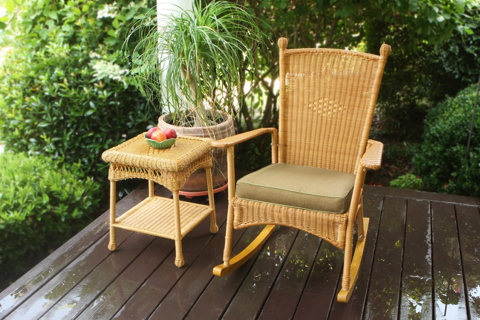 Image of: Elegant Outdoor Wicker Rocking Chairs