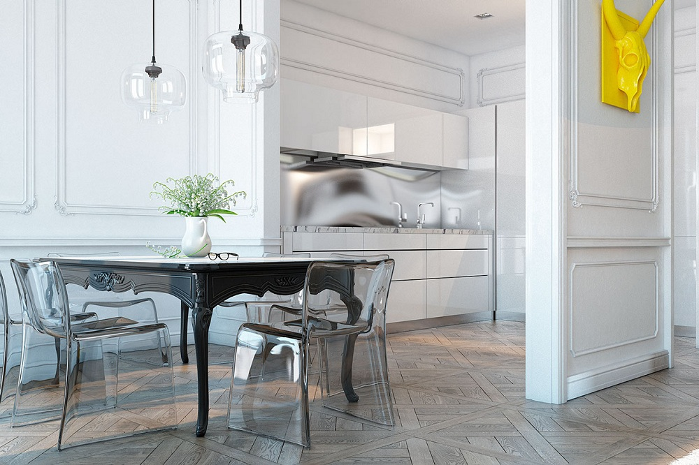 Image of: Exellent Lucite Dining Chairs