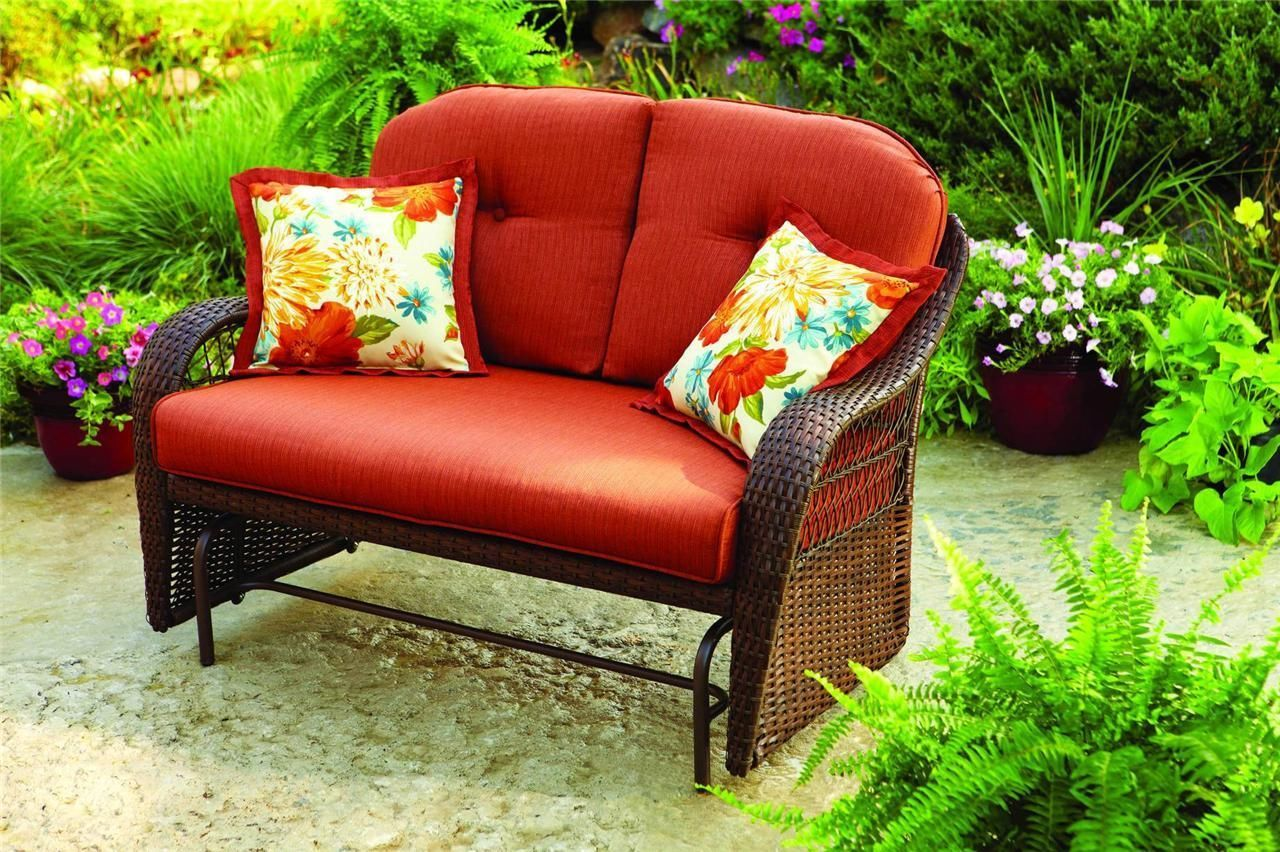 Image of: Famous Patio Glider Chair