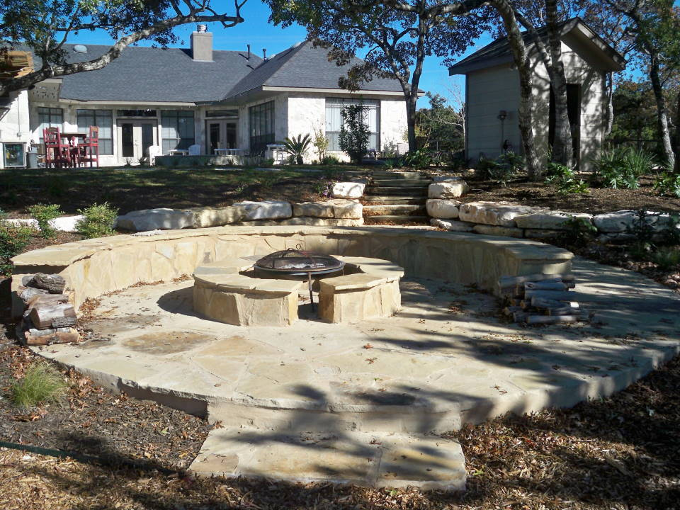 Image of: Flagstone Patio Yard
