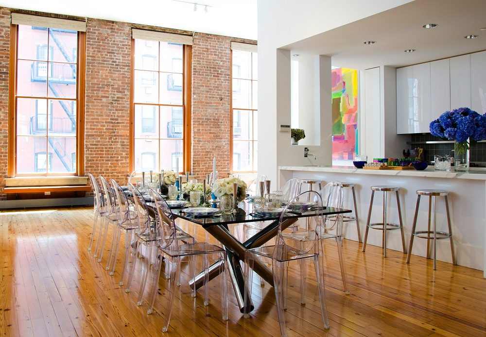 Image of: Furniture Lucite Dining Chairs