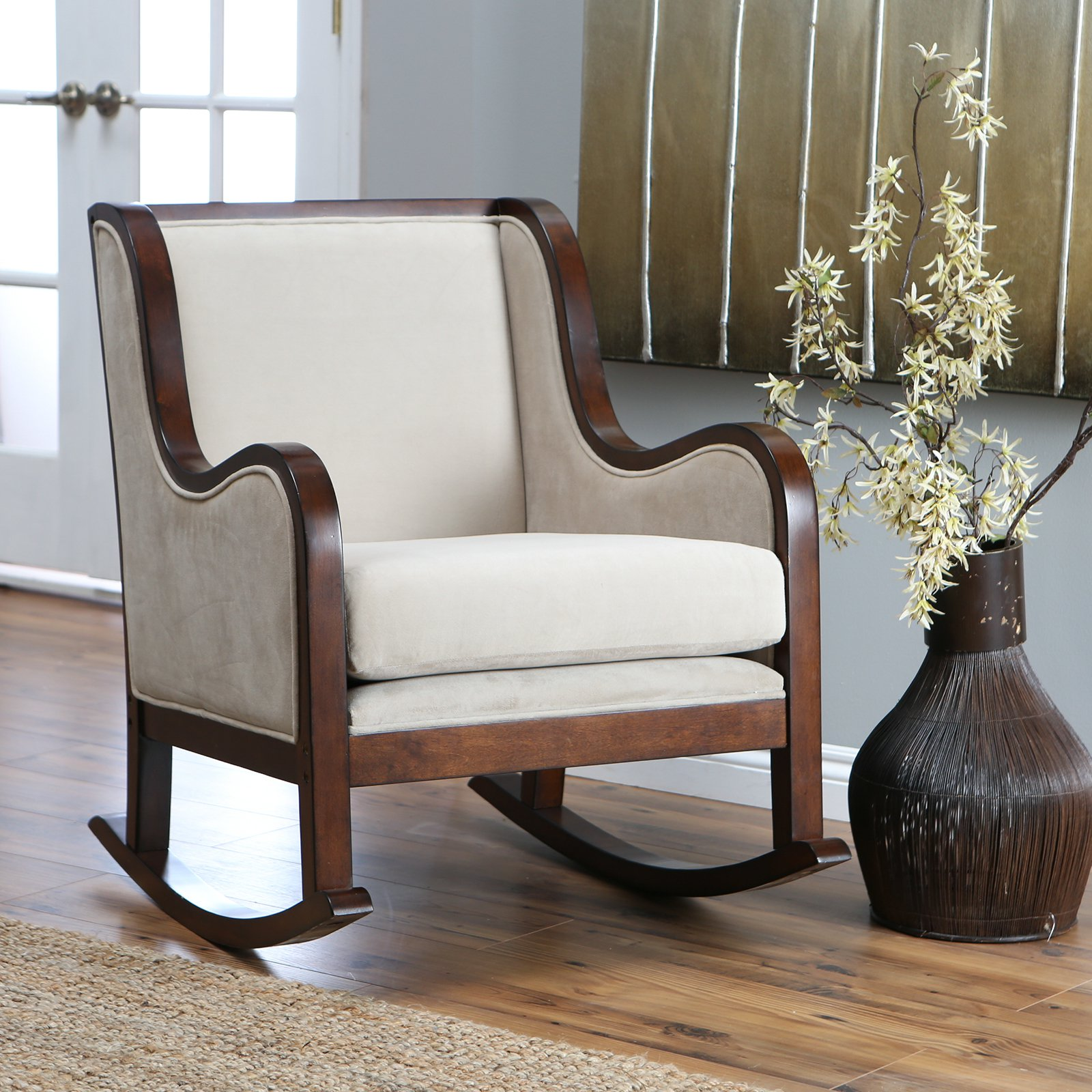 Image of: Furniture Upholstered Rocking Chairs