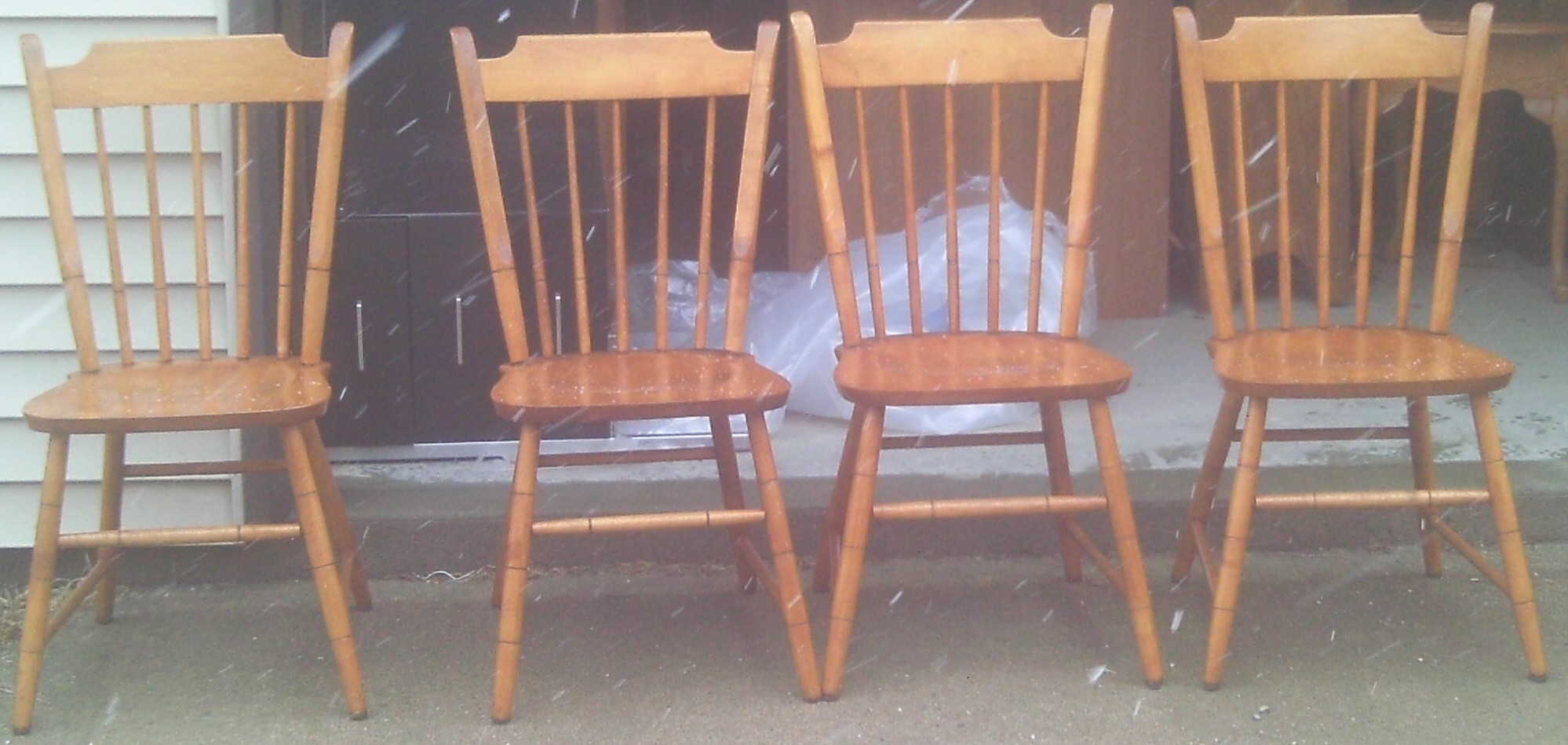Image of: Gallery Unfinished Wood Dining Chairs