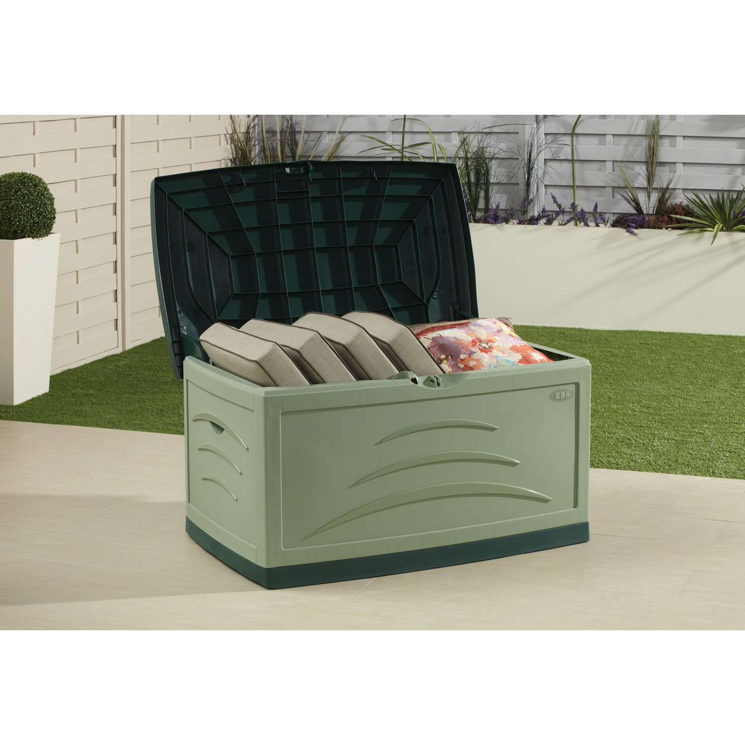 Image of: Green Patio Cushion Storage