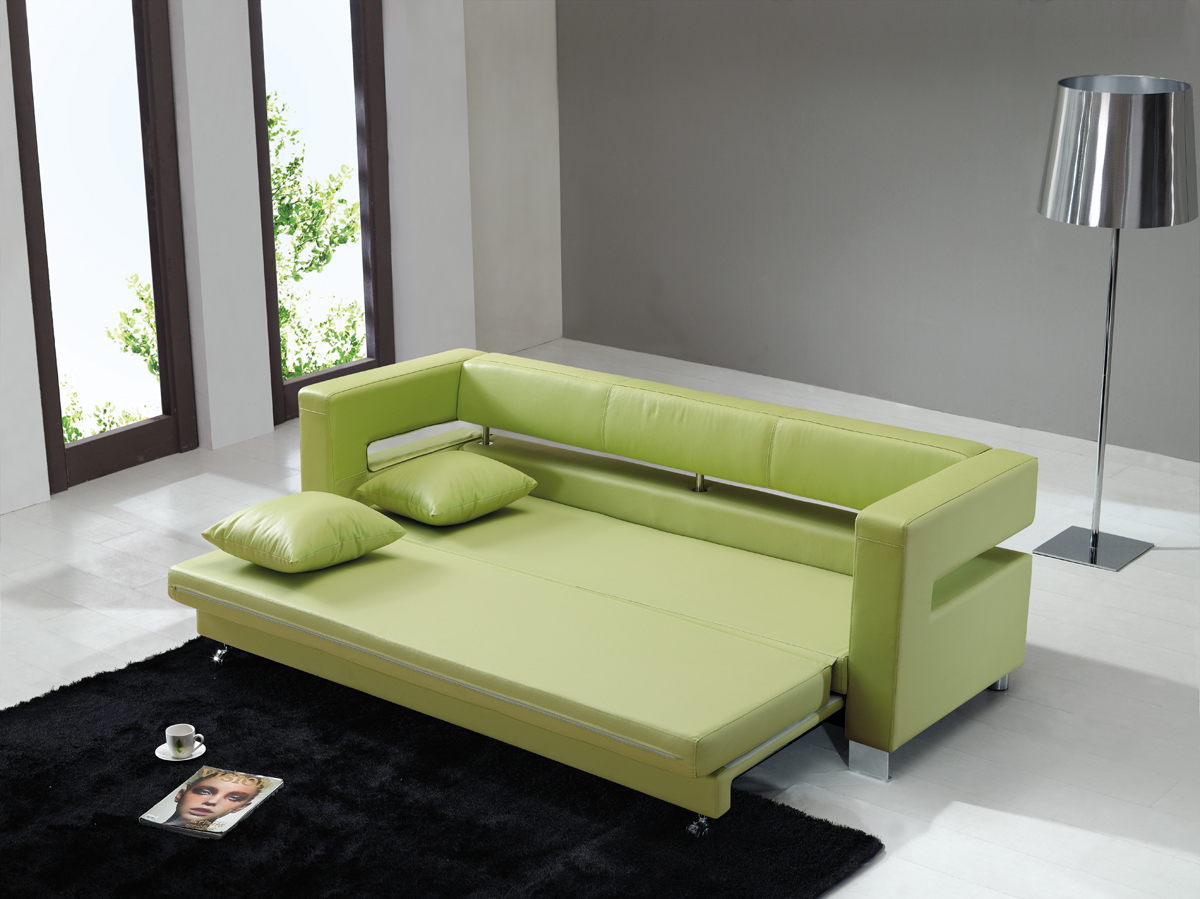 Image of: Green Sleeper Chair Bed