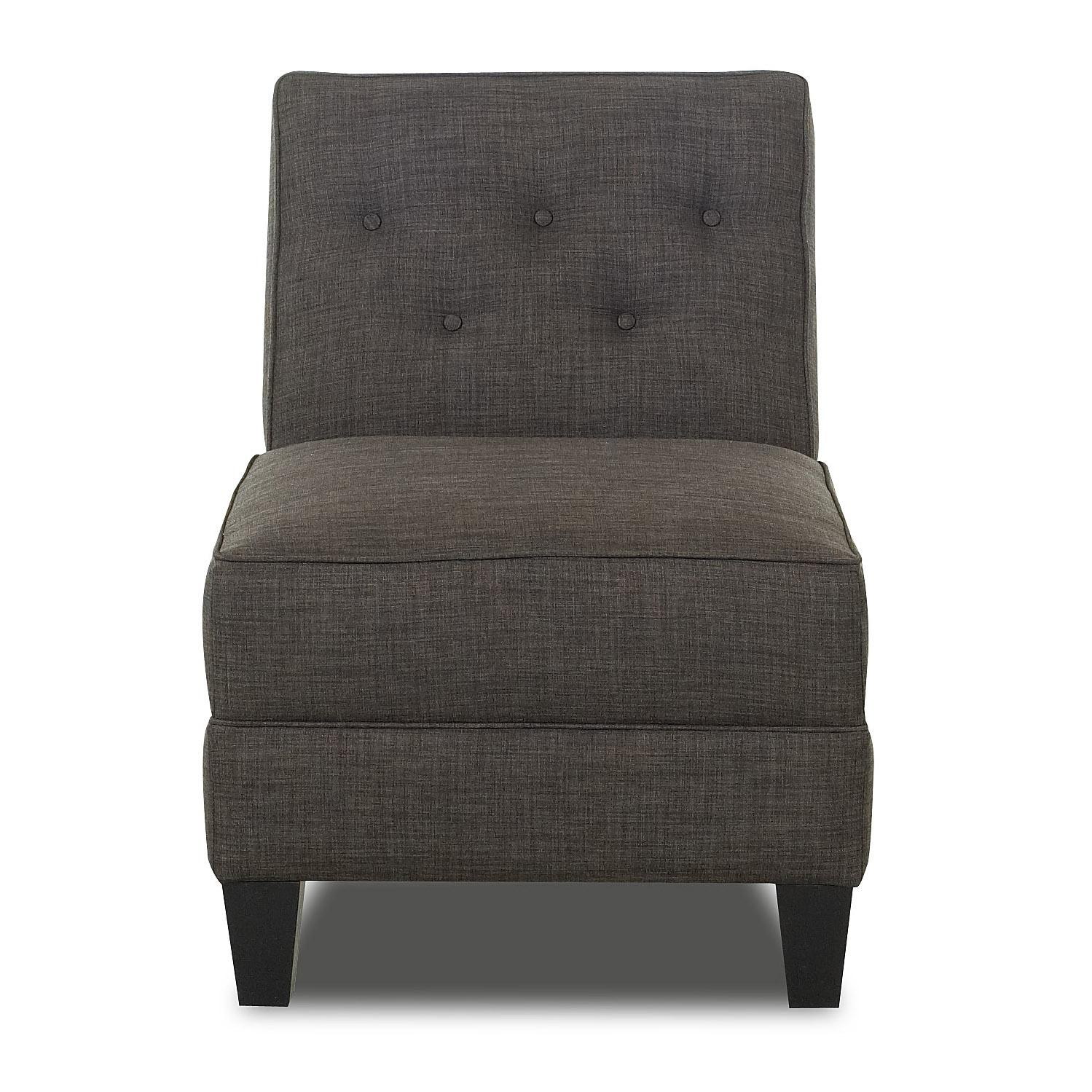 Image of: Grey Armless Accent Chairs