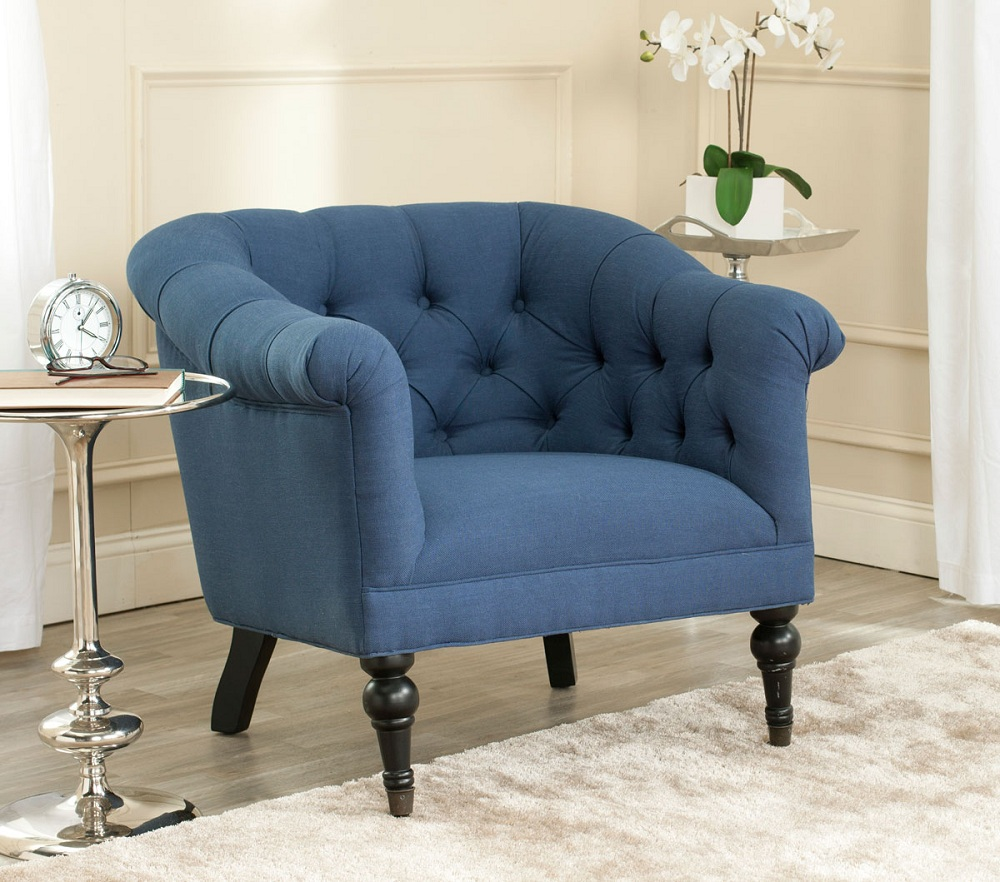 Image of: Ideas Navy Blue Accent Chair