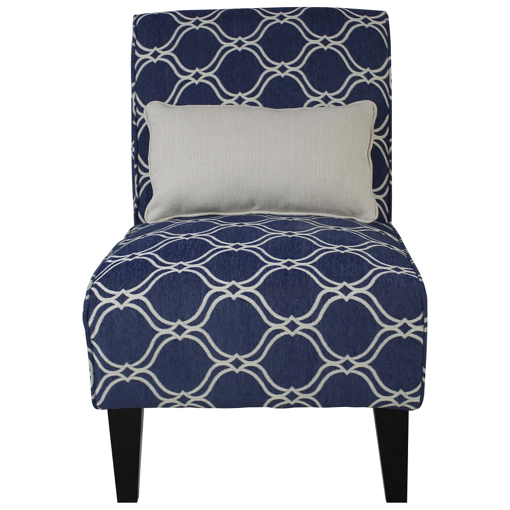 Image of: Interior Navy Blue Accent Chair