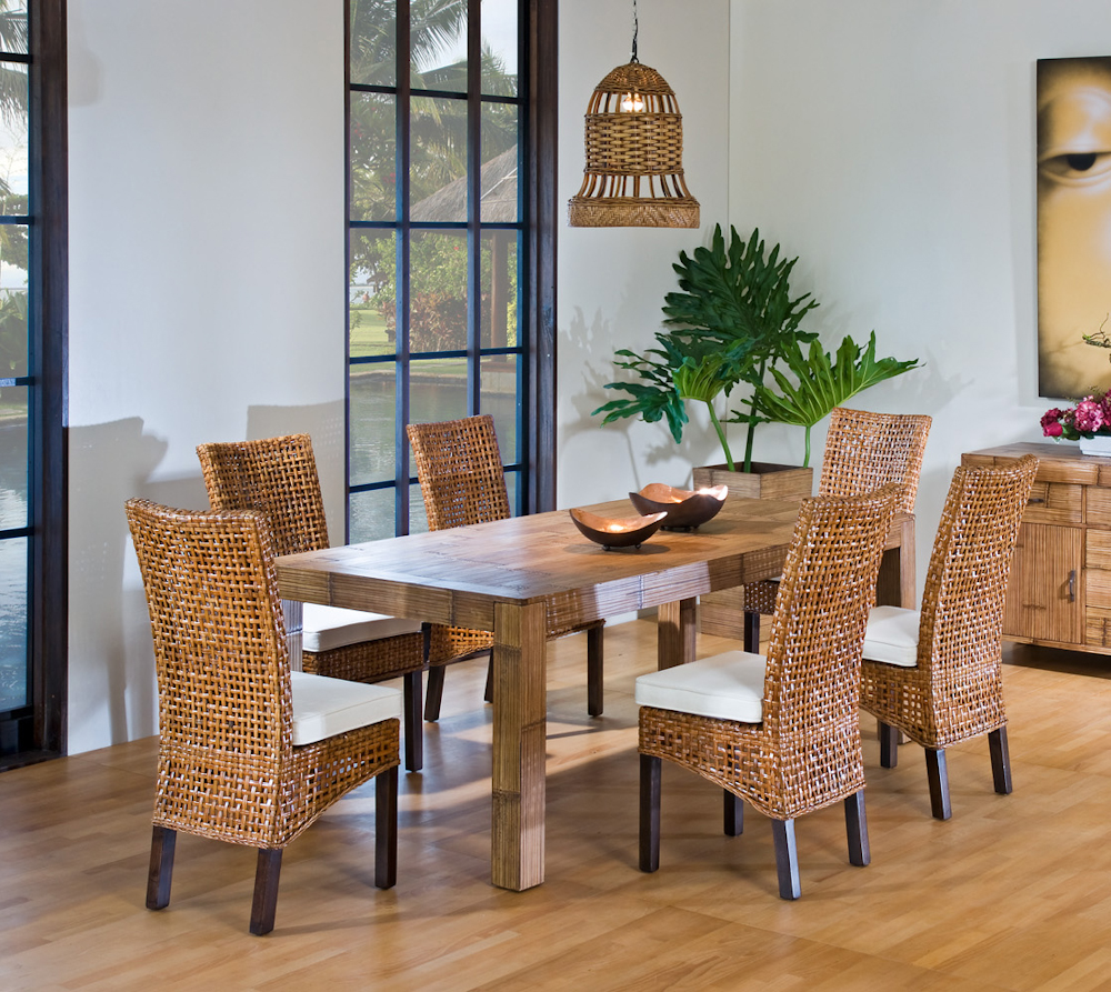 Image of: Interior Seagrass Dining Chairs
