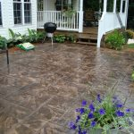 Large Stamped Concrete Patio