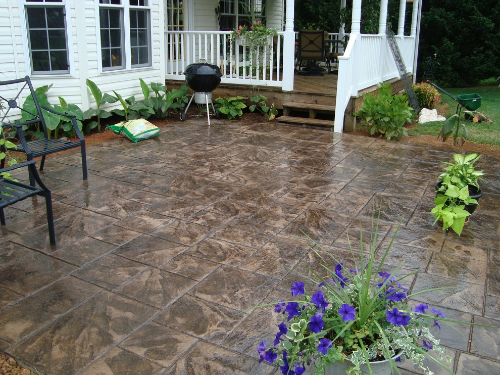 Image of: Large Stamped Concrete Patio