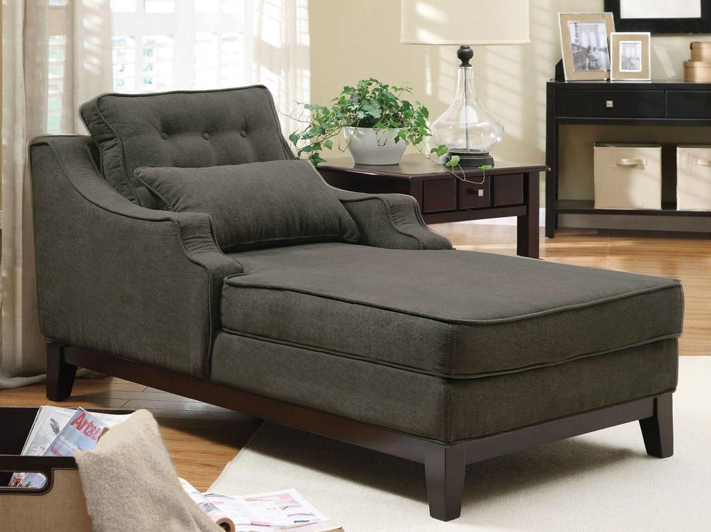 Image of: Leather Chaise Lounge Chairs Indoor