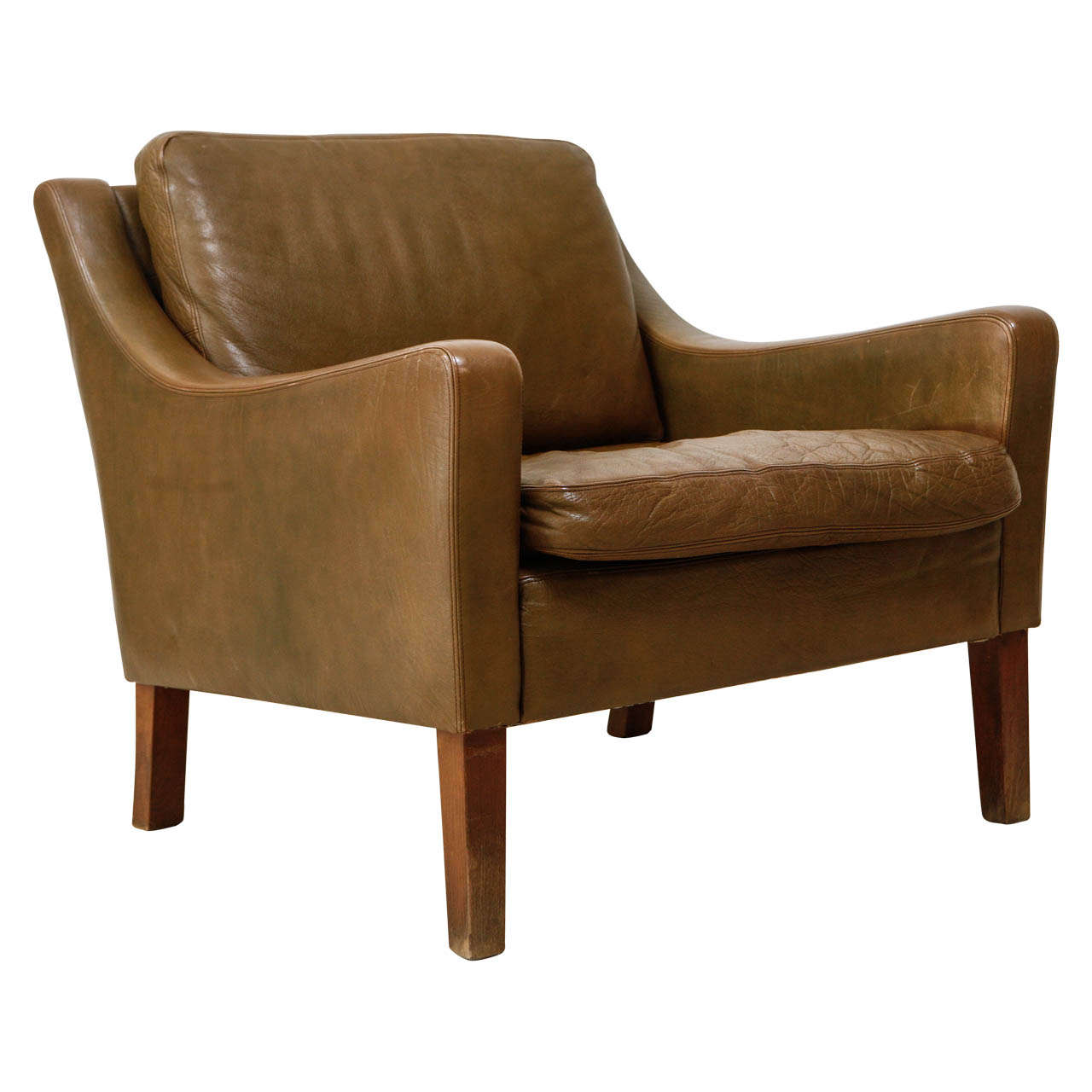 Image of: Leather Danish Lounge Chair