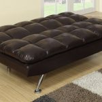 Leather Twin Size Sleeper Chair