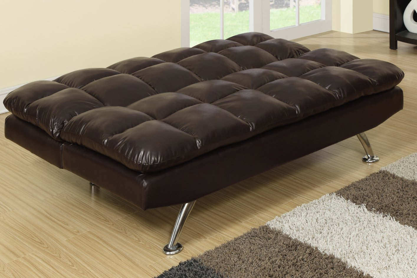 Image of: Leather Twin Size Sleeper Chair