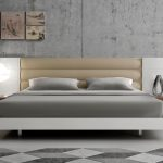 Lisbon Modern Platform Bed with Upholstered Headboard