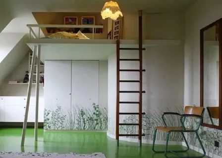 Image of: Loft Bed With Stairs Canada