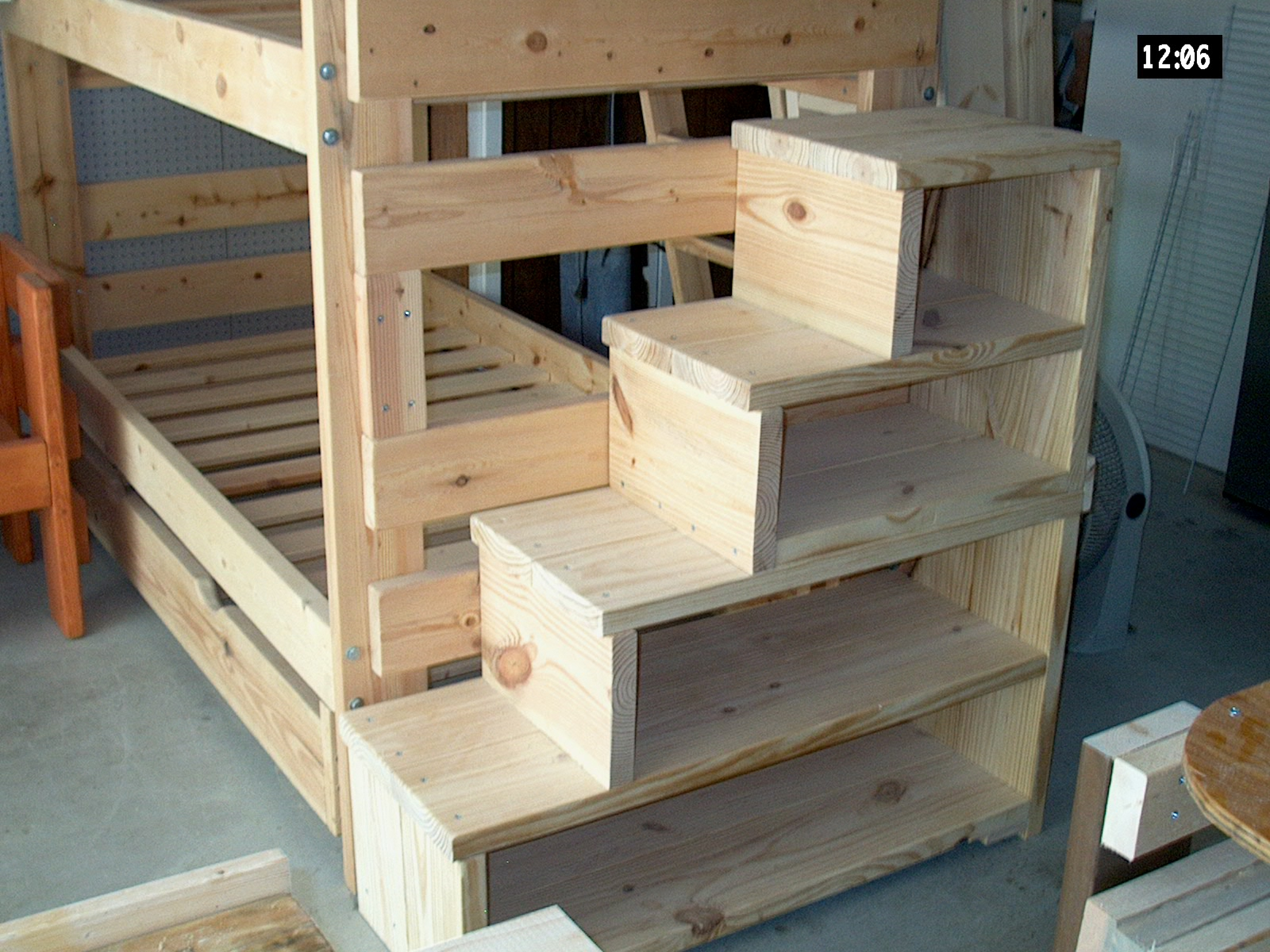 Image of: Loft Bed With Stairs Full