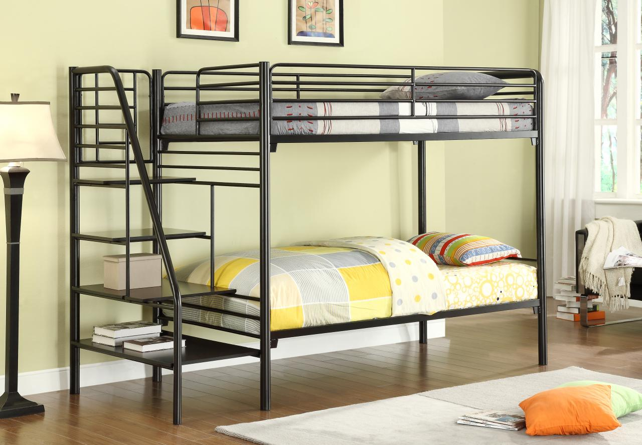 Image of: Loft Bed With Stairs Ikea