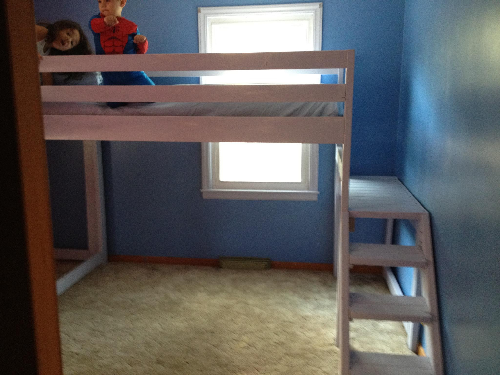 Image of: Loft Bed With Stairs Kit