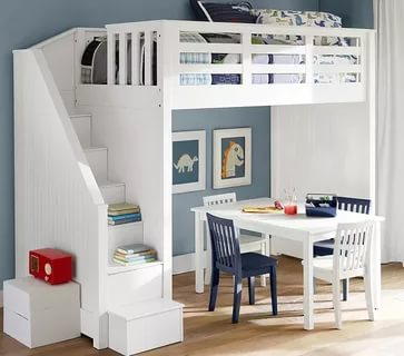 Image of: Loft Bed With Stairs