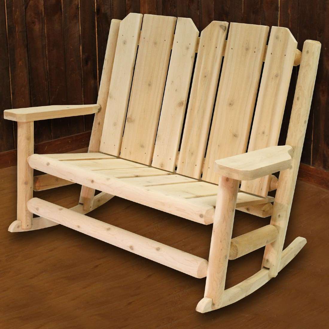 Image of: Long Rustic Rocking Chairs