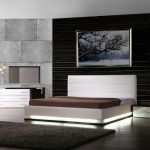 Lorezo contemporary platform bed with lights