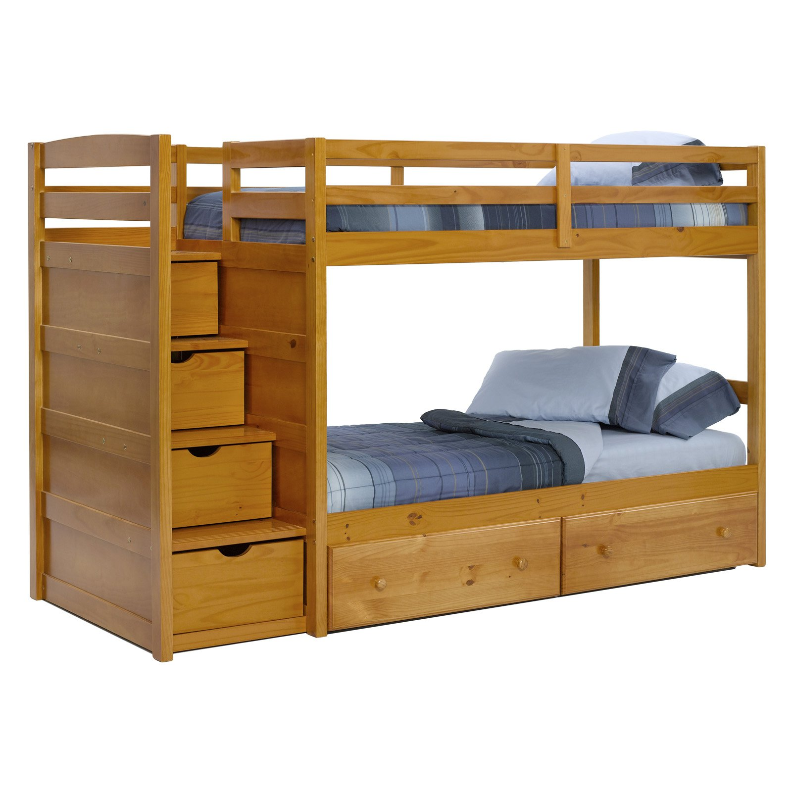 Image of: Low Loft Bed With Stairs