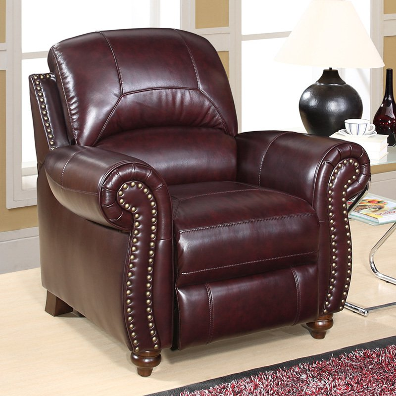 Image of: Master Leather Reclining Accent Chair
