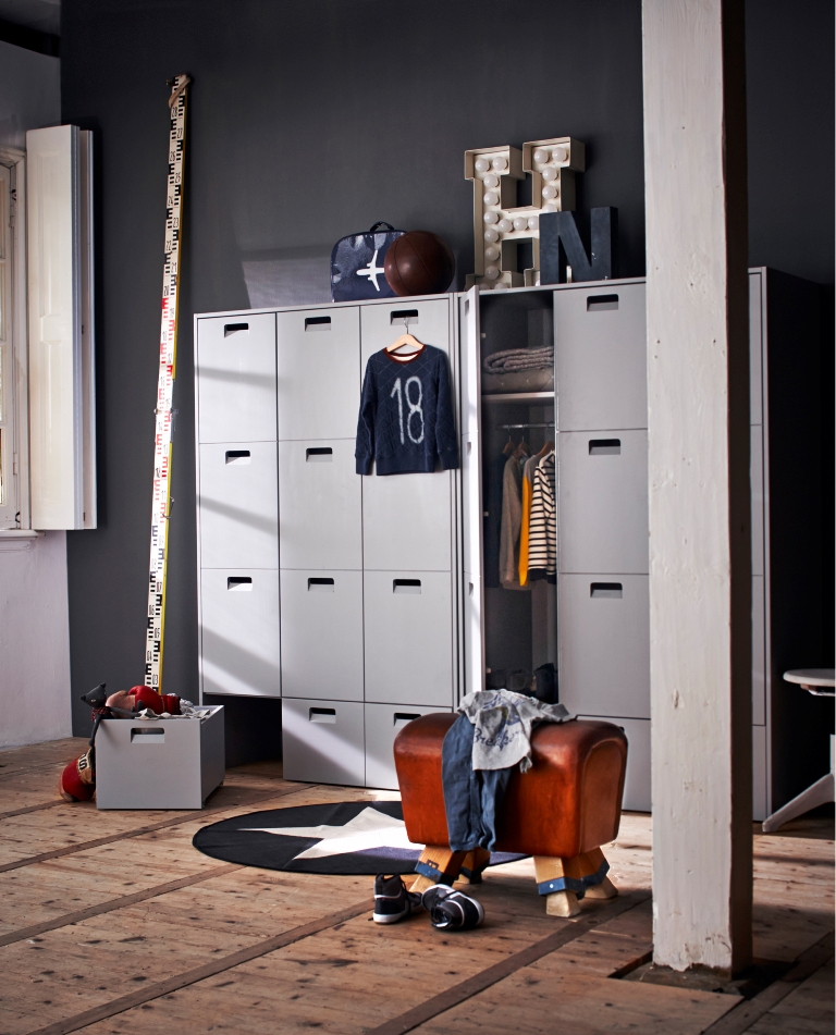 Image of: Metal Locker Bedroom Furniture