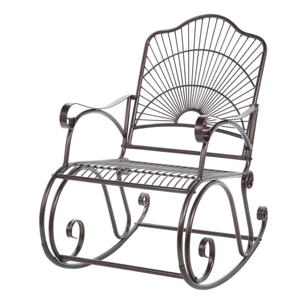 Image of: Metal Patio Rocking Chair