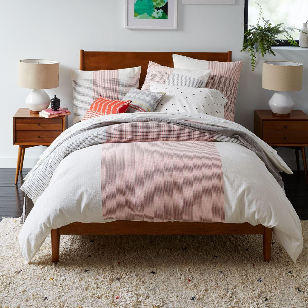 Image of: Mid Century Bed Frame