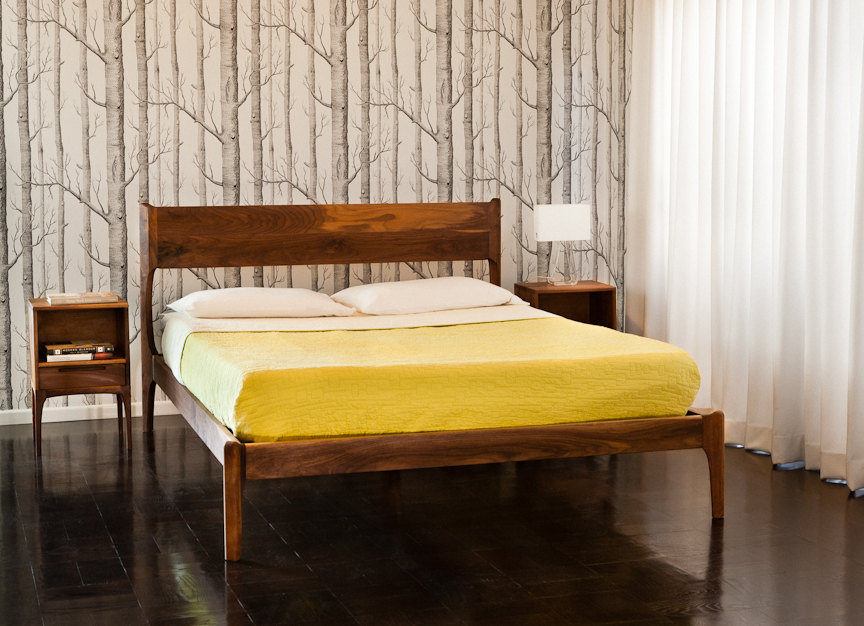 Image of: Mid Century Bed West Elm