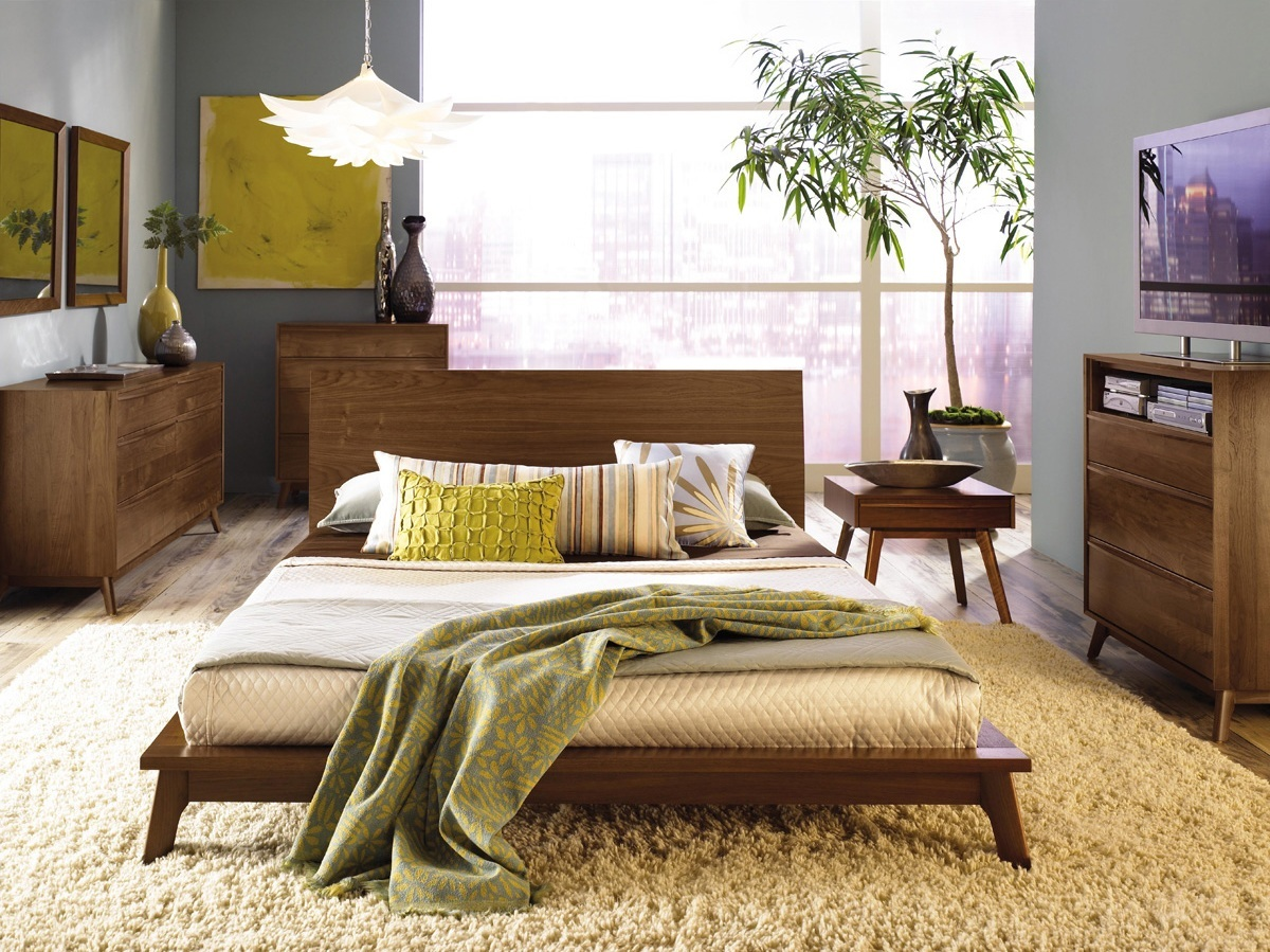 Image of: Mid Century Bed