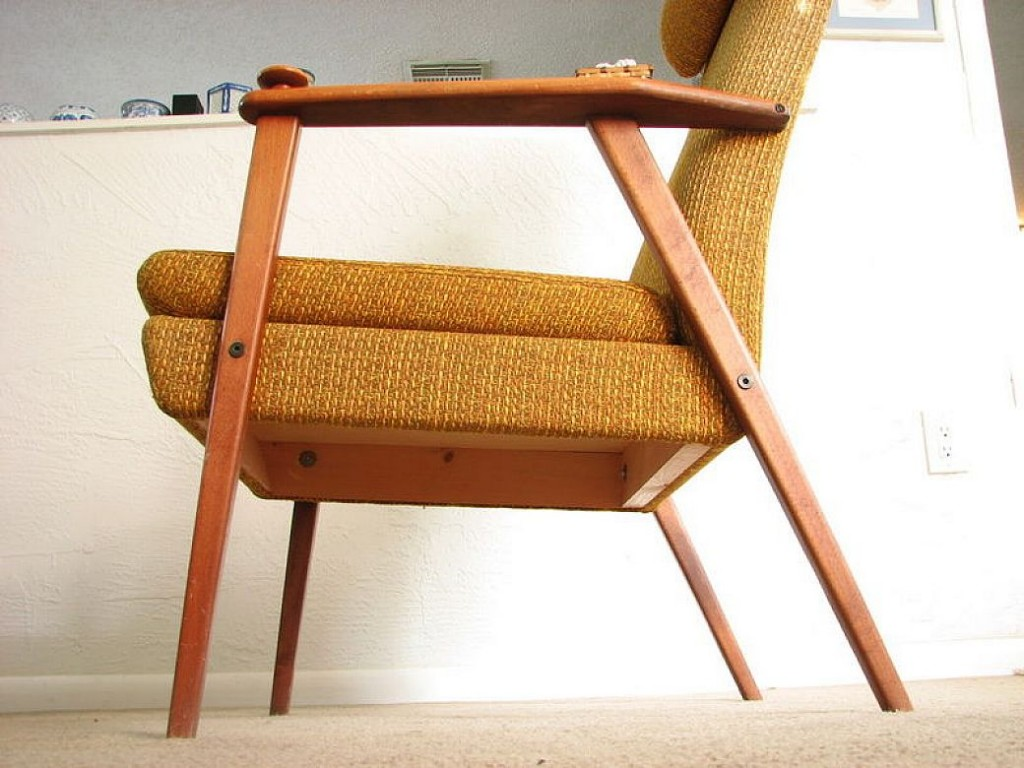 Image of: Mid Century Modern Lounge Chair Model